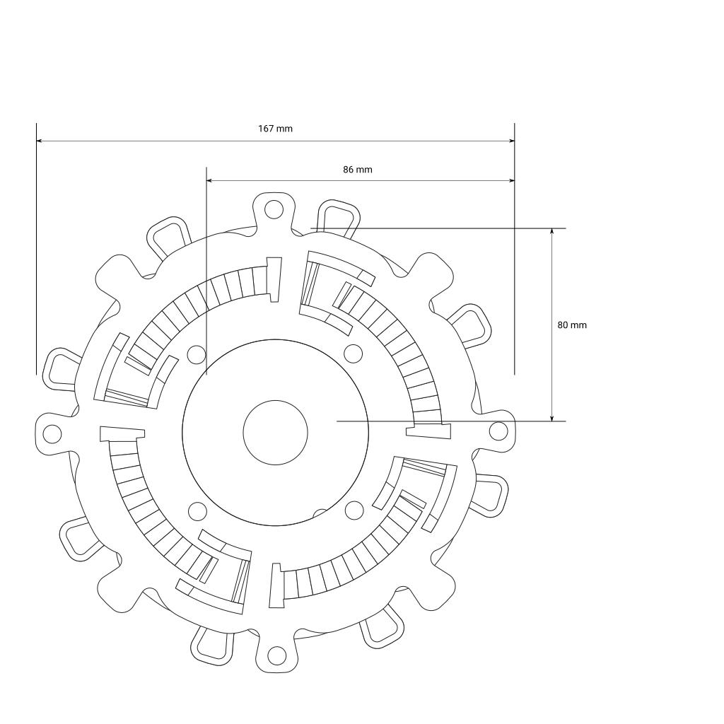 Bemaßungskizze für Universal Stelzlager S, 17 - 30 mm