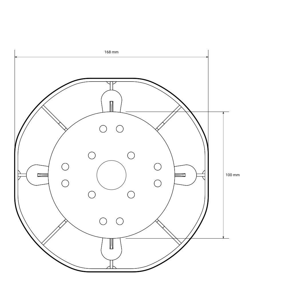 Bemaßungskizze für Universal Stelzlager M, 30 - 45 mm