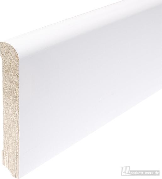 hoco sockelleiste classic 608 kiefer weiss lackiert 18 x 96 x 2400 mm parkett parkett. Black Bedroom Furniture Sets. Home Design Ideas