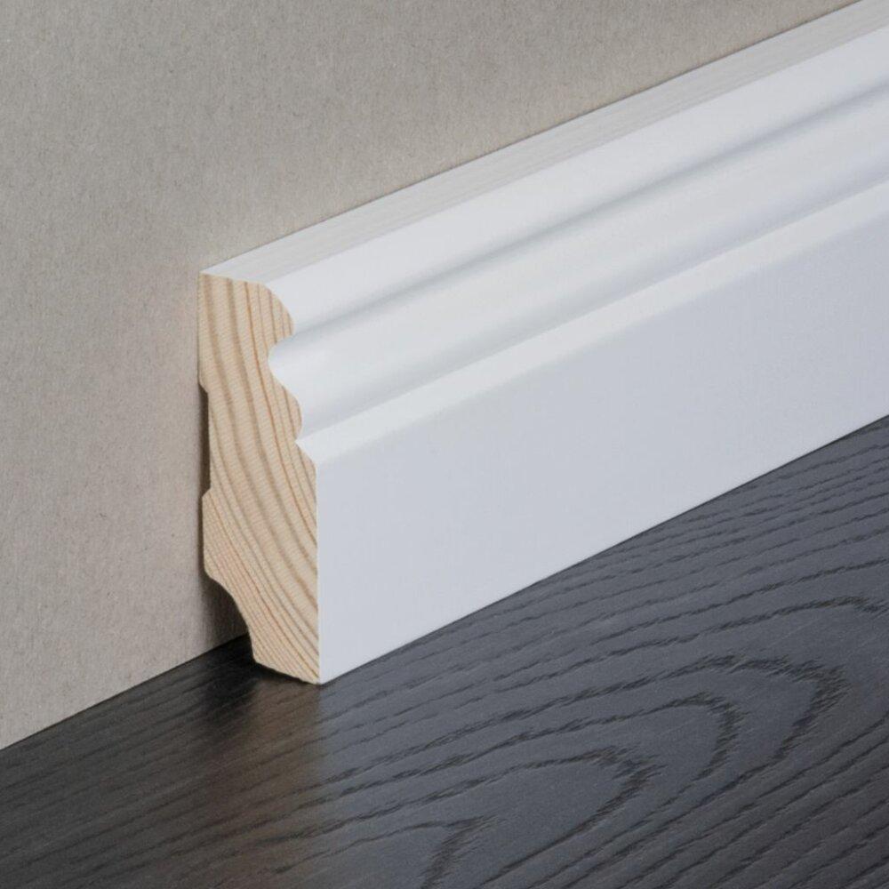 kosche sockelleiste 1.4 berliner profil nadelholz massiv weiß ral